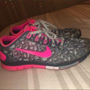 Pink Leopard Nike's